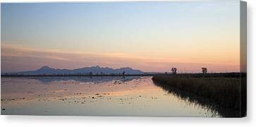 Sunset At Sutter Buttes Canvas Print by Charlie Osborn