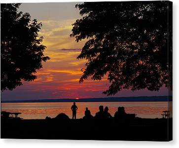 Sunset At Sylvan Beach Canvas Print