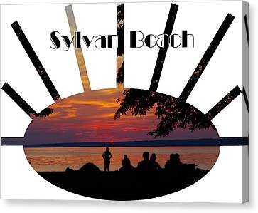 Sunset At Sylvan Beach - T-shirt Canvas Print