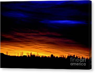Sunset At The Barn Canvas Print by Clayton Bruster