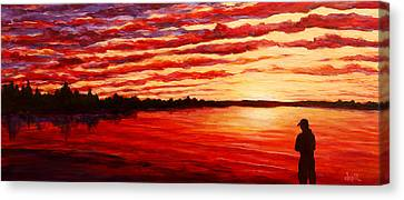 Sunset At The Bay Canvas Print by Douglas Keil