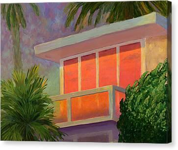 Sunset At The Beach House Canvas Print