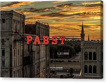 Sunset At The Brewery Canvas Print