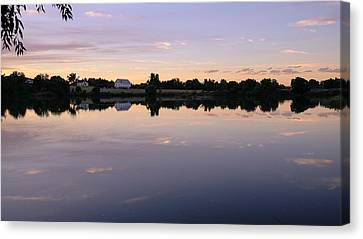 Canvas Print featuring the photograph Sunset At The Farmhouse by Monte Stevens
