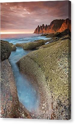 Sunset At Tungeneset Canvas Print by Alex Conu