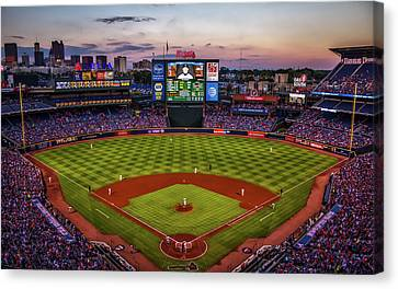 Sunset At Turner Field - Home Of The Atlanta Braves Canvas Print