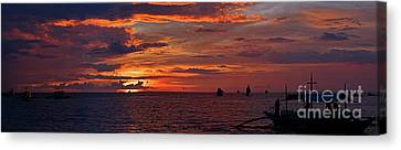 sunset at White Beach Canvas Print