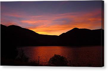 Canvas Print featuring the photograph Sunset At Woodhead Campground  by Joel Deutsch