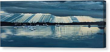 Sunset At Yamba Nsw Canvas Print