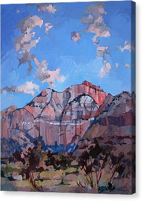 Sunset At Zion Canvas Print by Erin Hanson