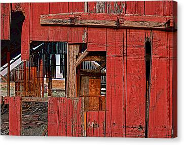 Canvas Print featuring the photograph Sunset Barn by Steve Siri