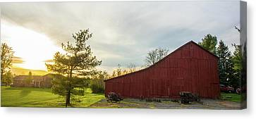 Sunset Barn Warren Co Oh Canvas Print by Randall Branham