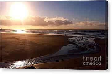 Sunset - Bastendorff Beach Canvas Print