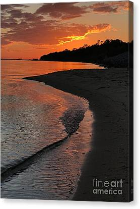 Canvas Print featuring the photograph Sunset Bay by Lori Mellen-Pagliaro