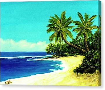 Sunset Beach Art North Shore Of Oahu In Summer #100 Canvas Print by Donald k Hall