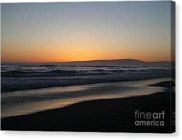 Sunset Beach California Canvas Print by Amanda Barcon