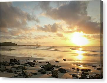 Sunset Beach Delight Canvas Print
