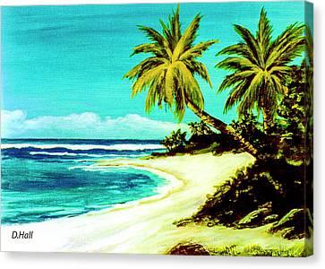 Sunset Beach Hawaiian #113 Canvas Print by Donald k Hall