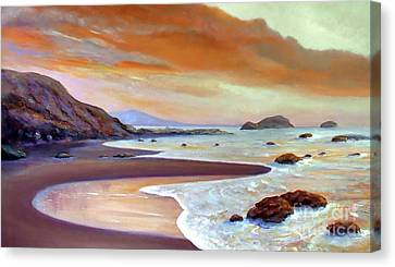Sunset Beach Canvas Print by Michael Rock