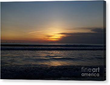 Sunset Beach Photo Canvas Print by Timea Mazug