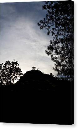 Sunset Behind The Hill Canvas Print by Charlie Osborn