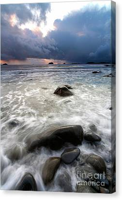 Sunset Beneath The Storm Canvas Print by Mike Dawson