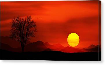 Sunset Canvas Print by Bess Hamiti