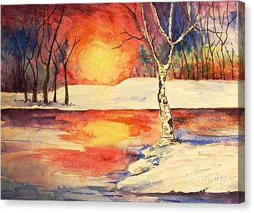 Canvas Print - Sunset Birch by Tina Sheppard