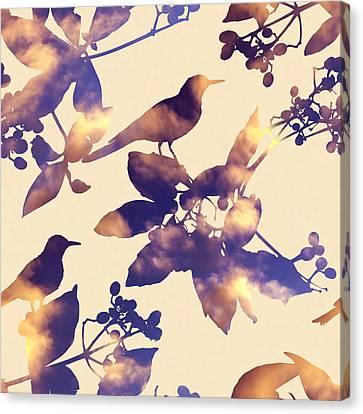 Sunset Birds Canvas Print