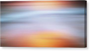 Sunset Bliss Contemporary Abstract Canvas Print by Georgiana Romanovna