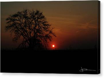 Sunset Bloody Sunset Canvas Print