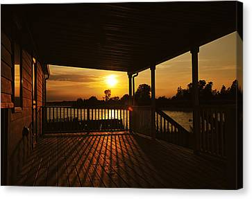 Sunset By The Beach Canvas Print by Angel Cher