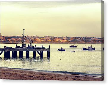 Canvas Print featuring the photograph Sunset By The Sea by Marion McCristall