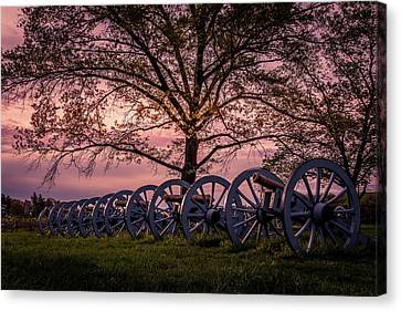 Sunset Cannons Canvas Print