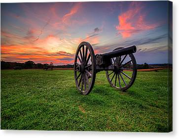 Sunset Canon Canvas Print