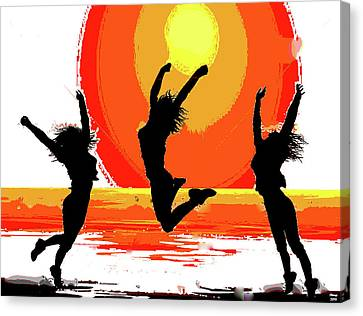 Sunset Celebration Canvas Print by Charles Shoup