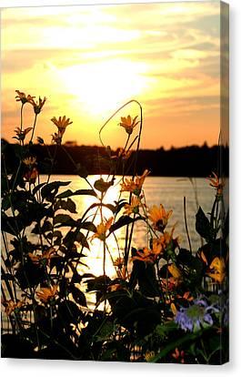Sunset Central Park Canvas Print