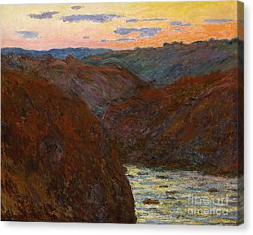 Sunset Canvas Print by Claude Monet