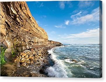 Sunset Cliffs Canvas Print by Ryan Weddle