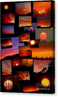Sunset Collage Canvas Print