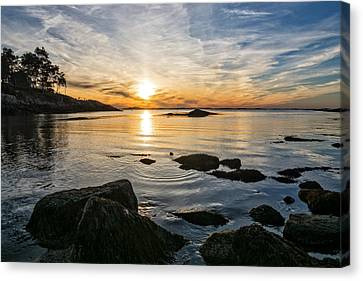 Sunset Cove Gloucester Canvas Print by Michael Hubley