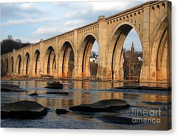 Bridge Canvas Print - Sunset Crossing by Kelvin Booker