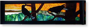 Sunset Crows Canvas Print by Jane Croteau