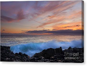 Sunset Curl Canvas Print by Mike Dawson
