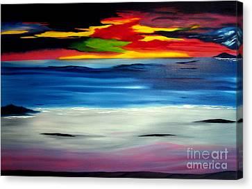 Sunset Canvas Print by David Hatton