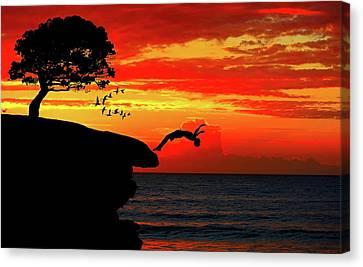 Sunset Dive Canvas Print
