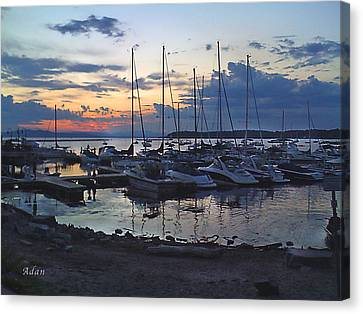 Canvas Print featuring the photograph Sunset Dock by Felipe Adan Lerma