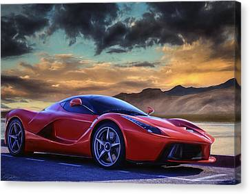 Sunset Drive Canvas Print