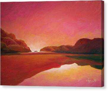 Sunset Estuary Canvas Print