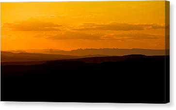 Canvas Print featuring the photograph Sunset by Evgeny Vasenev